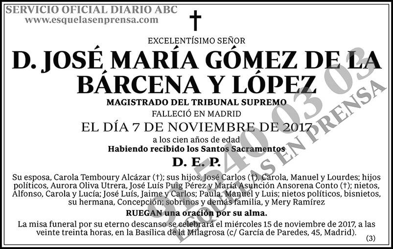 José María Gómez de la Bárcena y López